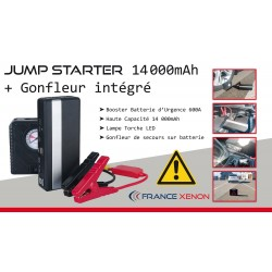Jump Starter 1400Ah + Integrated Inflator - Battery Backup