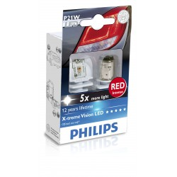 2x P21W LED x-treme ultinon red 12v