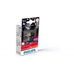 1x Festoon Philips 10.5x38 LED X-Treme Ultinon 6000K 24V C5W