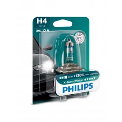 H4 bulb headlight motorbike motorcycle philips self xtremvision 12342xv + b1