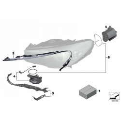 Serie 7 F01 F02 F03 LED Modul für Scheinwerfer OEM 63117339003