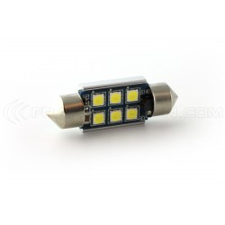 1 x AMPOULE C10W 6-LED Super Canbus 450Lms XENLED - GOLD