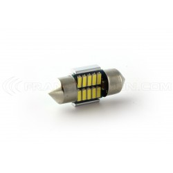 1 x 10 LED bulb 180 ° canbus - c3w 31mm