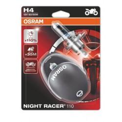 2x osram night racer 110 h4 halogen lamp headlight for motor bike, 64193n