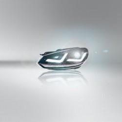 2x Golf Scheinwerfer vi - gti edition, zirkulierte Scheinwerfer Xenon-Nachrüst Feuer +