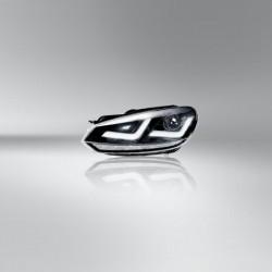 2x phares Golf VI - Chrome Edition, phare Xénon retrofit + feu de circulation diurne LED, LEDHL102-CM,  droite + gauche