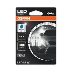 2x OSRAM LED Premium Retrofit W5W T10, LED-W5W, éclairage intérieur, 2850BL-02B, Ice Blue, 12V , blister double