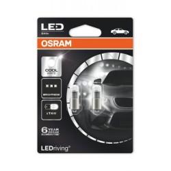 2x OSRAM LED Premium Retrofit BA9S T4W, , éclairage intérieur, 3850CW-02B, Cool White, 12V , blister double