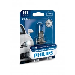 1x ampoule H1 Philips WhiteVision +60%