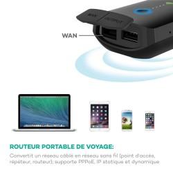 Kartenleser, RAVPower Filehub NAS Portable Wireless Router, externe Batterie 6000mAh