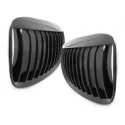 2x Grilles de calandre BMW E63/64 6er Coupe/Cabrio 05-10 _ Noir Brillant