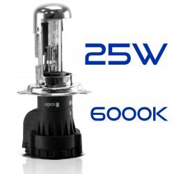 Ampoule Rechange H4-3 6000K 25W métallique