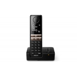 Téléphone fixe sans fil Philips D4651 Solo Répondeur Noir