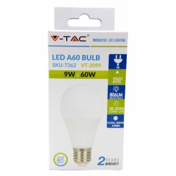 Mega Saver Pack 10x LED Bulbs - 9W E27 A60 Thermoplastic Natural White