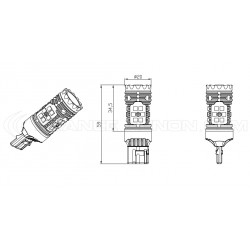 2x Lampadine XENLED 2.0 30 LED SAMSUNG - WY21W - CANBUS Performance