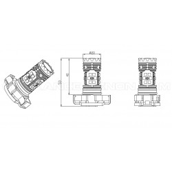 2x Lampadine XENLED 2.0 30 LED SAMSUNG - PY24W - CANBUS Performance