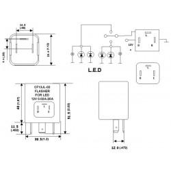Relè CF13 JL-02 Lampeggiante LED 12V Flasher Auto Moto Grande