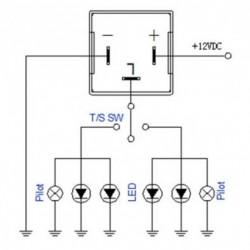 Relais CF13 JL-02 Einstellbarer Blinker LED 12V Flasher Motorrad Auto 12V 0.02A bis 20A