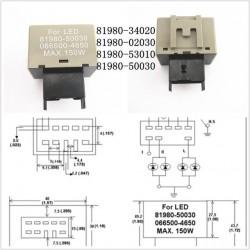 Relais CF18 81980-50030 06650-4650 LM449 blinkendes LED 12V Flasher-Motorrad-Auto