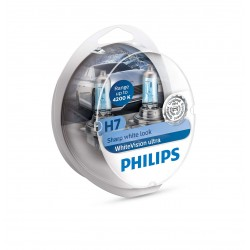 2 Lampadine H7 WhiteVision Ultra + 2 W5W