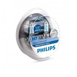 2 Lampen H7 WhiteVision Ultra + 2 W5W