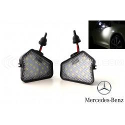Pack 2 luci porta specchietto retrovisore LED Mercedes Classe A W176 / B W242 W246 / C W204 / W212 W221 W219 W117 W209 W156