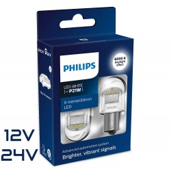 2x P21W LED GEN2 X-TREM ULTINON BLANC PHILIPS 12V/24V