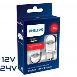 2x W21W LED GEN2 X-TREM ULTINON RED PHILIPS 12/24V