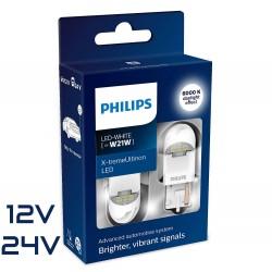 2x W21W LED GEN2 X-TREM ULTINON PHILIPS WHITE 12/24V