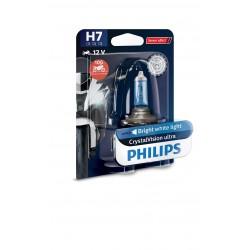 1x H7 55W CrystalVision ultra Philips moto 12972CVUBW