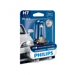 1x H7 55W WhiteVision 12972WHVB1 Philips