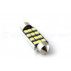 1 x AMPOULE C10W 12 LED Canbus 95Lms XENLED