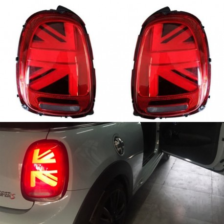 Mini cooper s f56 New hatch 3 puertas rojo con Union Jack Flag bandera techo a partir de 2014
