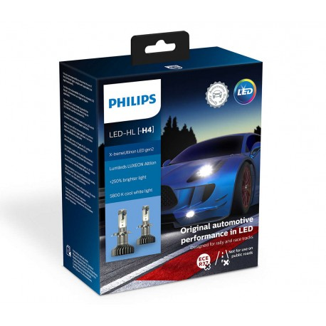2x ampoules h4 led philips x treme ultinon gen2 5800k 250 france xenon. Black Bedroom Furniture Sets. Home Design Ideas