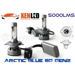 2 x Lampadine H4 Bi-LED 6G GEN2 - 5000Lm - 6500K - 12 / 24 Vdc