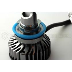 Kit AMPOULES H11 LED Ventilées FF2 - 5000Lms - 6000°K - Taille Mini