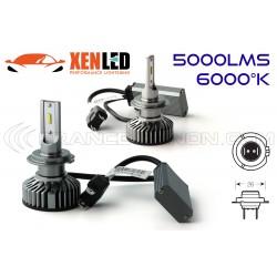 Kit AMPOULES H7 LED Ventilées FF2 - 5000Lms - 6000°K - Taille Mini