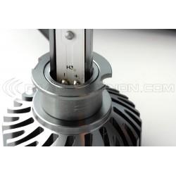 Kit AMPOULES H3 LED Ventilées FF2 - 5000Lms - 6000°K - Taille Mini