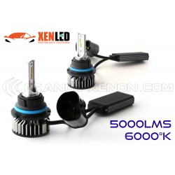 HB5 9007 bi-LED Ventilated FF2 - 5000/6000Lms - 6000 ° K - Mini Size