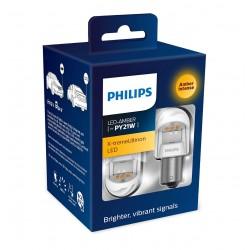 2x PY21W X-tremeUltinon LED gen2 Philips automotive signal lamp