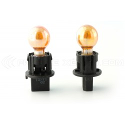 2 x Bulbs PWY24W Chrome Amber 24W 12V