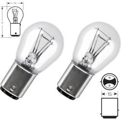2 x lampadine P21 / 4W 12V standard BAZ15D