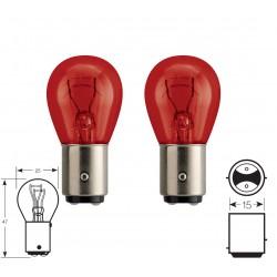 2 x lampadine PR21/5W 12V  rouge Standard BAW15D