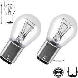 2 x Bulbs P21/5W 12V  Standard BA15D