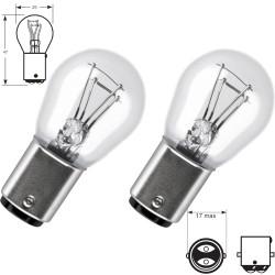 2 x lampadine P21/5W 12V  Standard BA15D