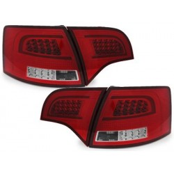 LED taillights Audi A4 Avant B7 04-08_red/chrome