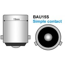 2 bombillas x intermitente cromado PY21W - pecho BAU15S