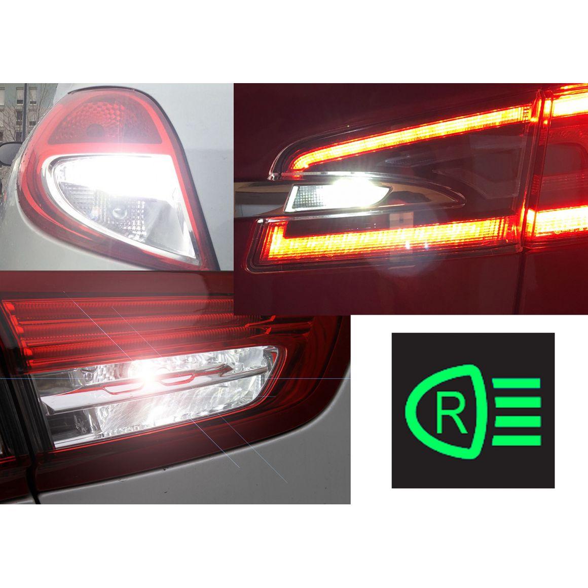 Backup Led Lights Pack For Peugeot 407