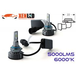 HB4 9006 LED Ventilated FF2 - 5000Lms - 6000 ° K - Mini Size