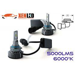 Kit 2 AMPOULES HB3 9005 LED Ventilées FF2 - 5000Lms - 6000°K - Taille Mini